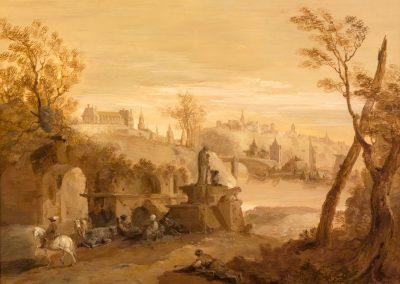 A pair of painting of Giuseppe Bernardino Bison