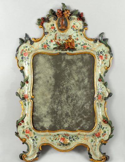 Lacquered dressing table mirror