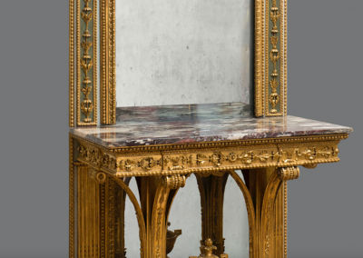 A GILTWOOD CONSOLE-TABLE WITH MIRROR