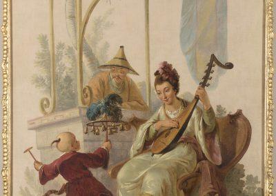 Dipinto con cineseria nei modi di Jean-Baptiste Pillement