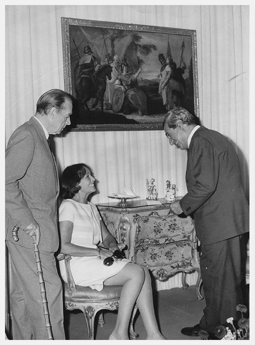 Paulette Goddard, E.M. Remarque and Tullio Silva