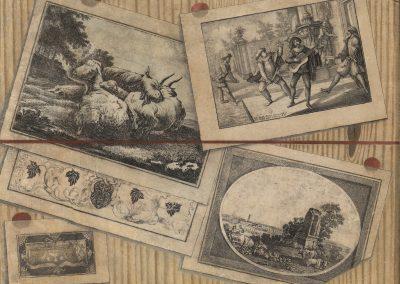 Serie di tre trompe l'oeil