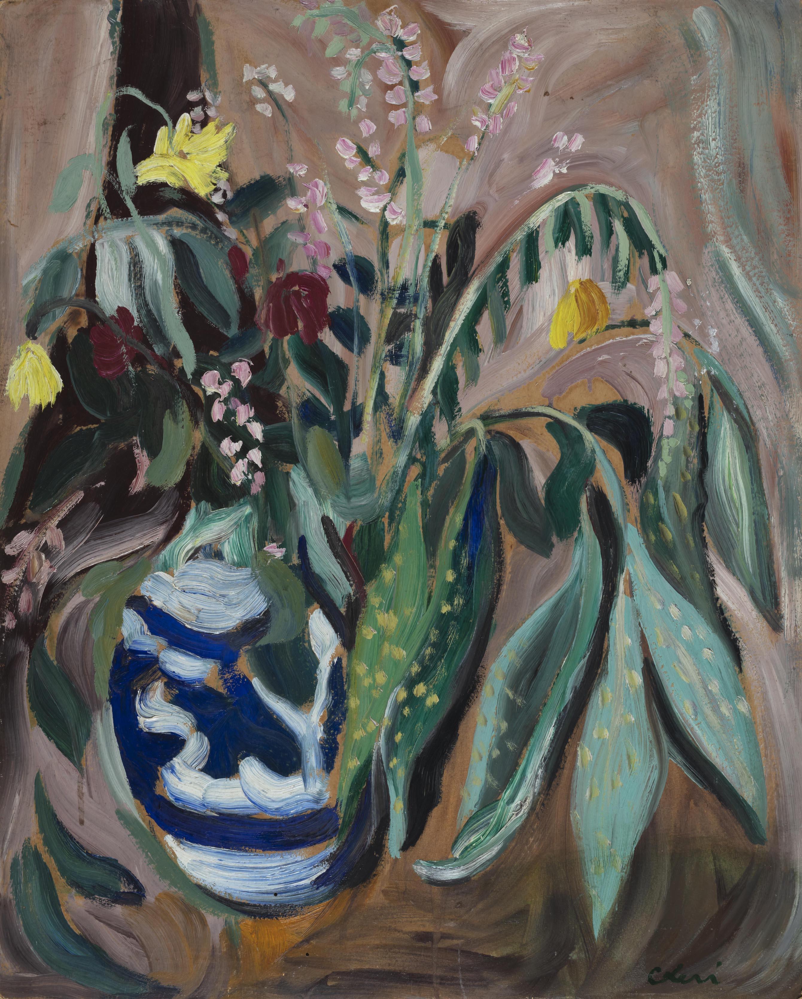 Vase of flowers 1933