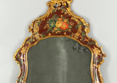A lacquered dressing mirror table