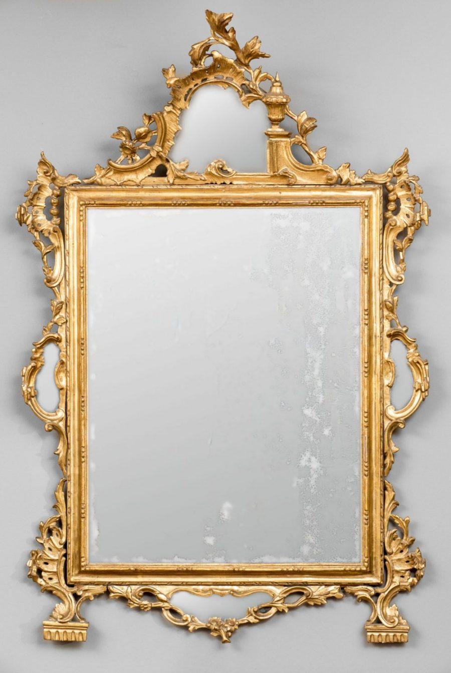 Specchiera in legno dorato